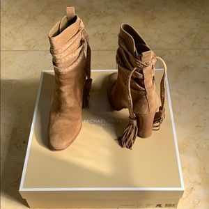 Michael Kors Collection suede booties!